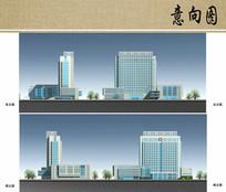 医疗中心大楼建筑立面方案