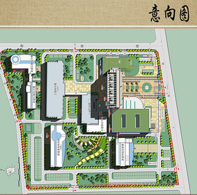 医疗中心建筑与规划设计平面图