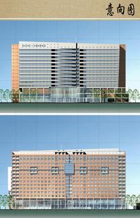医院病房楼方案设计立面图