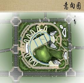 医院概念性规划设计平面图