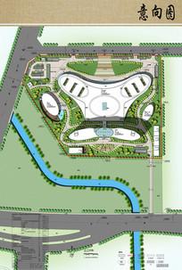 医院规划设计彩色总平面