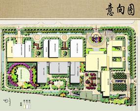 医院建筑布局总平面图