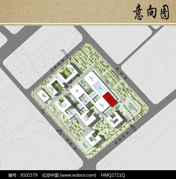 医院建筑规划布局平面图 红动网