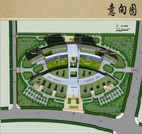 医院建筑设计彩色总平面图