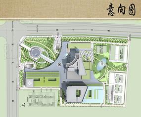 医院建筑设计方案总平面图