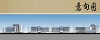 医院建筑整体立面图