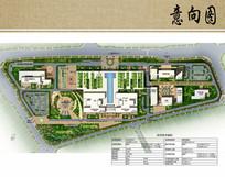 医院景观规划设计彩色总平面图