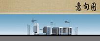 医院培训楼建筑立面图