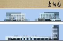 医院主楼立面图