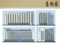 医院住院楼建筑立面图