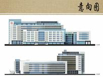 医院住院楼立面图