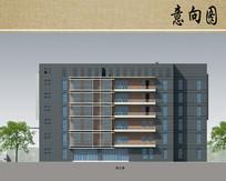 医院综合楼建筑方案立面