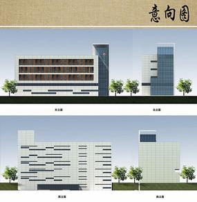 医院综合楼立面方案