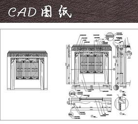 中式窗、窗套CAD详图