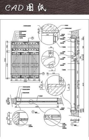 中式门窗CAD详图