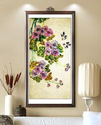 中式水墨工笔花鸟装饰画