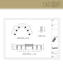 中式小区大门CAD