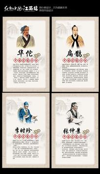 中医名人展板设计
