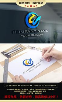 W字母大气LOGO设计