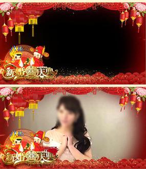 带通道婚庆边框视频素材