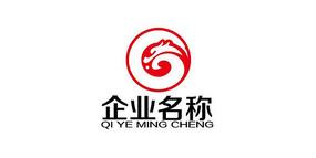 高端企业龙纹logo