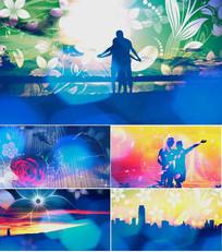 歌曲刚好遇见你舞台背景视频