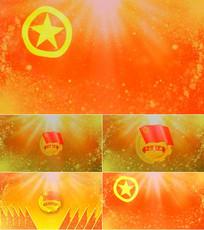 歌曲共青团之歌舞台背景视频