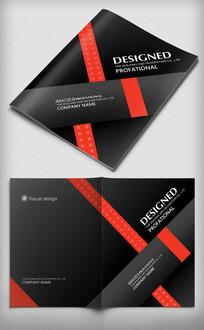 黑色简约大气企业画册封面设计