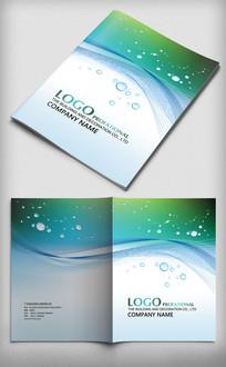 绿色动感背景科技封面设计