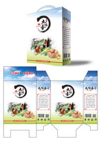 田园风格土鸡蛋包装设计
