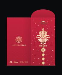 新春中国结红包设计