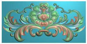 洋花贴花镂空花角花门楣冒头花图案