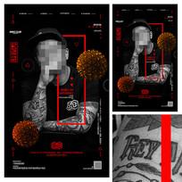 杂志封面人物明星海报设计
