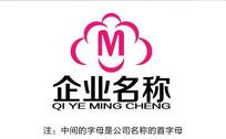 字母M服装公司文化logo