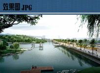 滨湖景观透视图