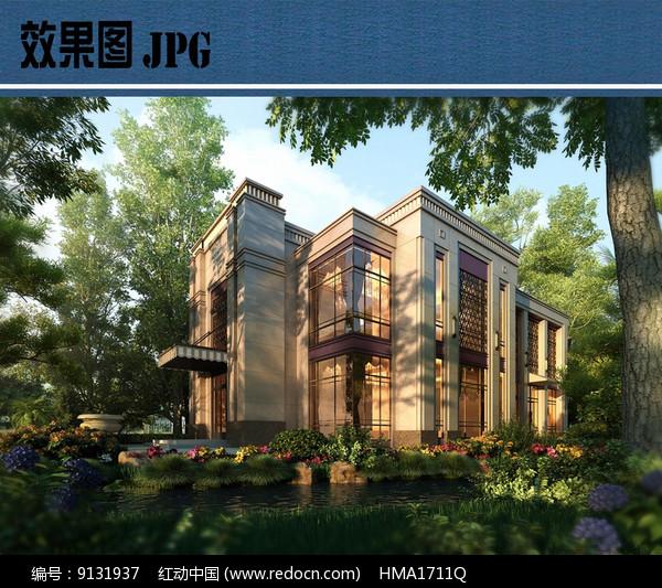 滨水别墅效果图JPG图片