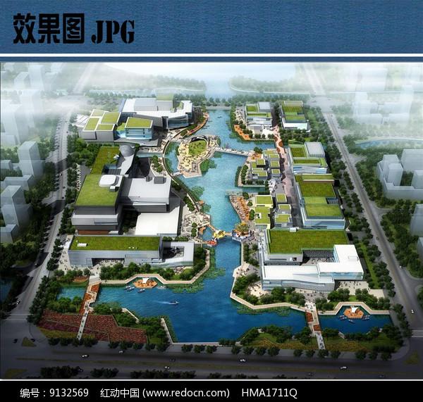 滨水景观设计鸟瞰图片