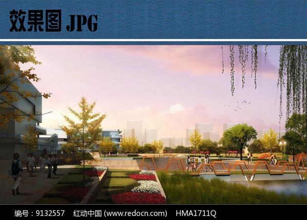 滨水景观设计效果图图片