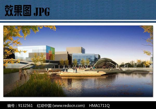 滨水休闲区效果图图片