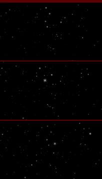 带通道闪烁星星视频素材