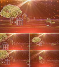 歌曲童话镇舞台背景视频