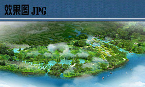 公园景观设计鸟瞰图