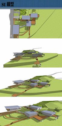 规划展览馆su模型 skp