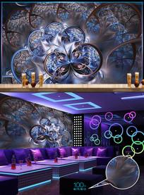 经典豪华钻石酒吧背景墙