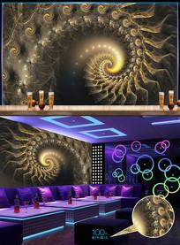 欧式豪华分形酒吧背景墙