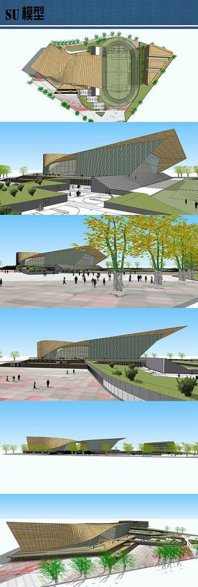 体育中心设计su模型