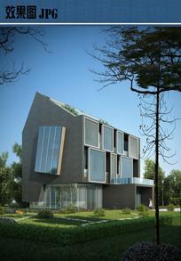 现代别墅设计效果图JPG