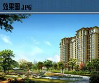 小区景观设计效果图JPG