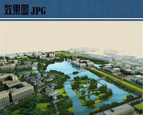校园景观规划设计鸟瞰图