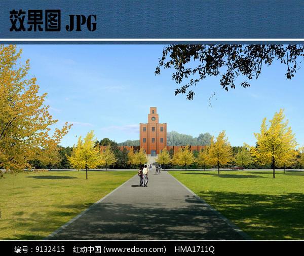 校园景观设计效果图片